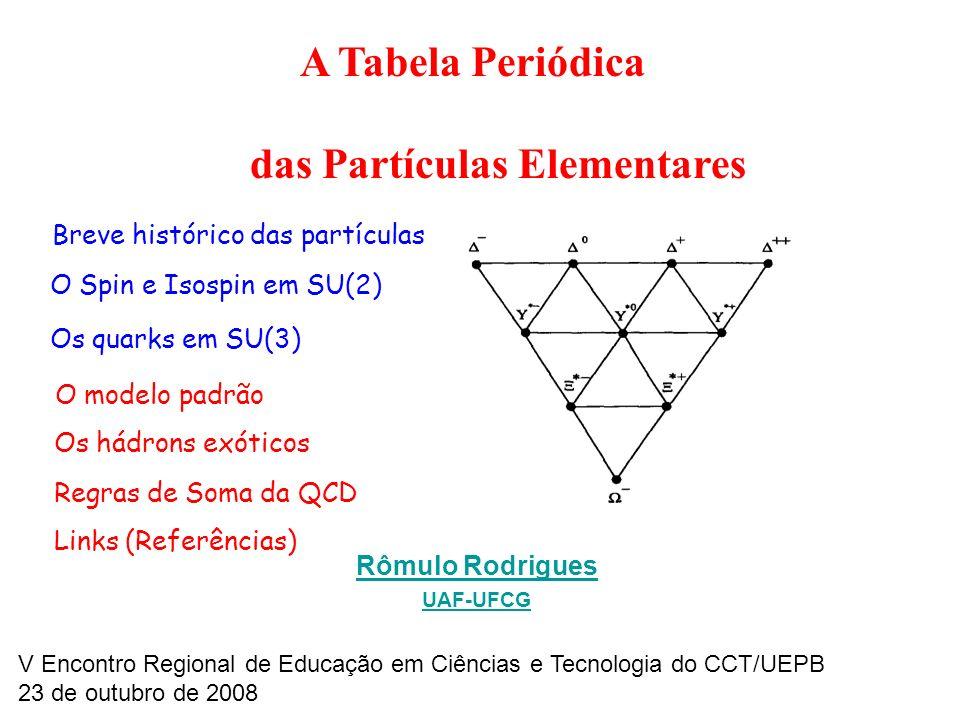 A Tabela Periódica das Partículas Elementares