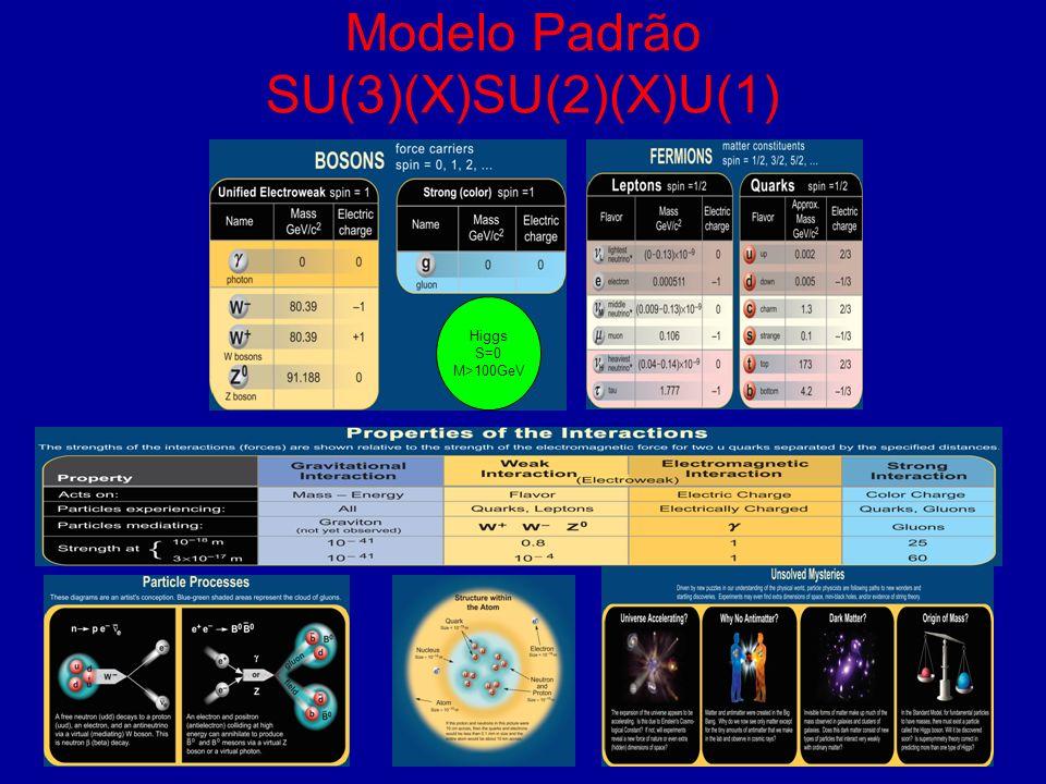 Modelo Padrão SU(3)(X)SU(2)(X)U(1)