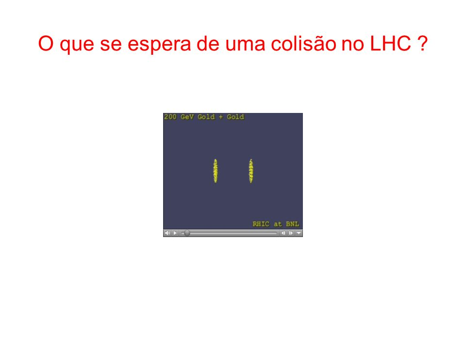 O que se espera de uma colisão no LHC