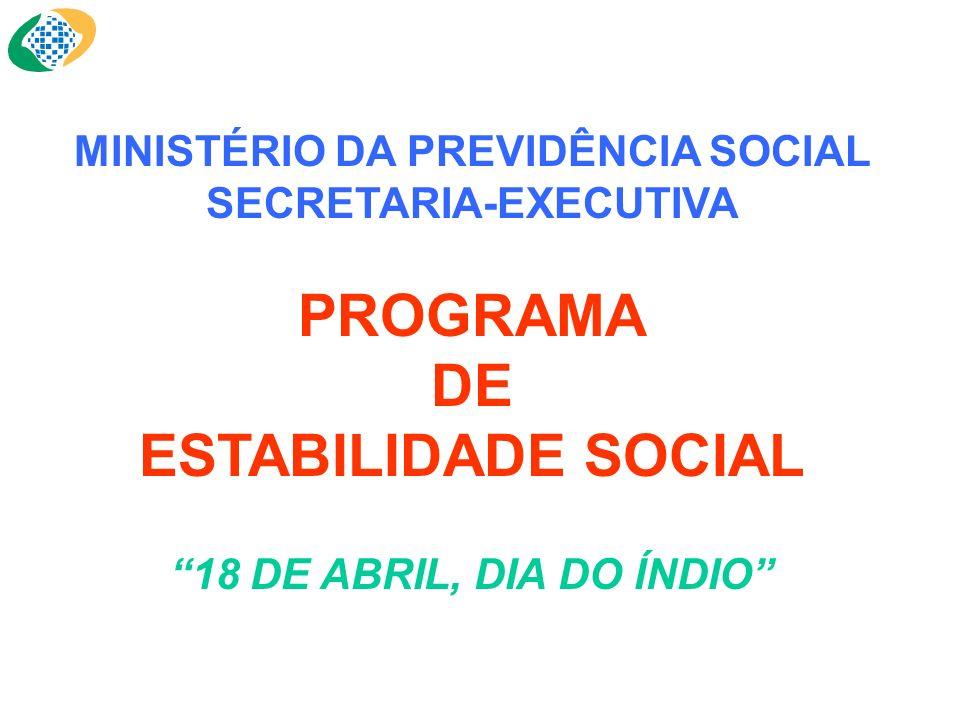 MINISTÉRIO DA PREVIDÊNCIA SOCIAL SECRETARIA-EXECUTIVA