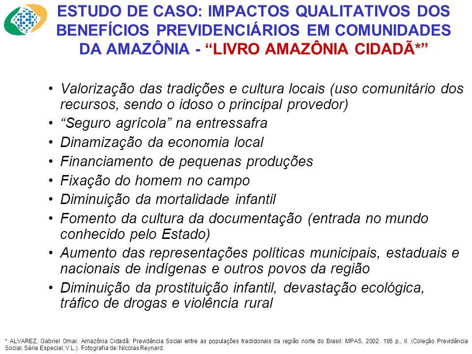 ESTUDO DE CASO: IMPACTOS QUALITATIVOS DOS BENEFÍCIOS PREVIDENCIÁRIOS EM COMUNIDADES DA AMAZÔNIA - LIVRO AMAZÔNIA CIDADÃ*