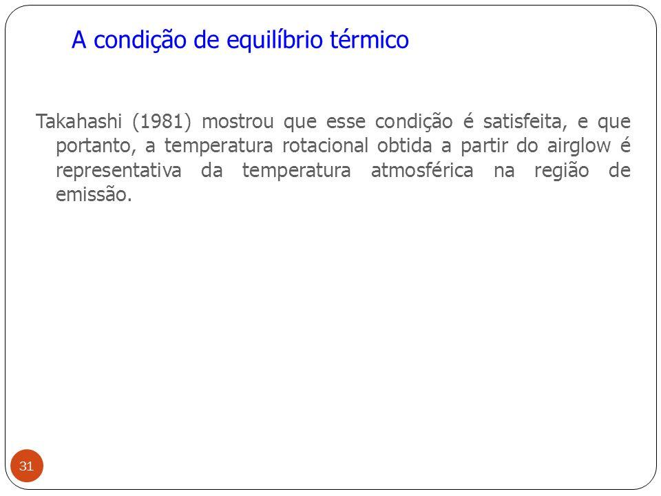 A condição de equilíbrio térmico