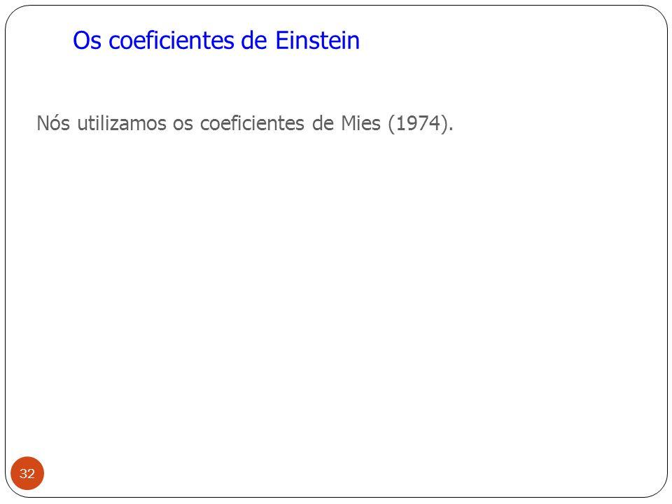 Os coeficientes de Einstein