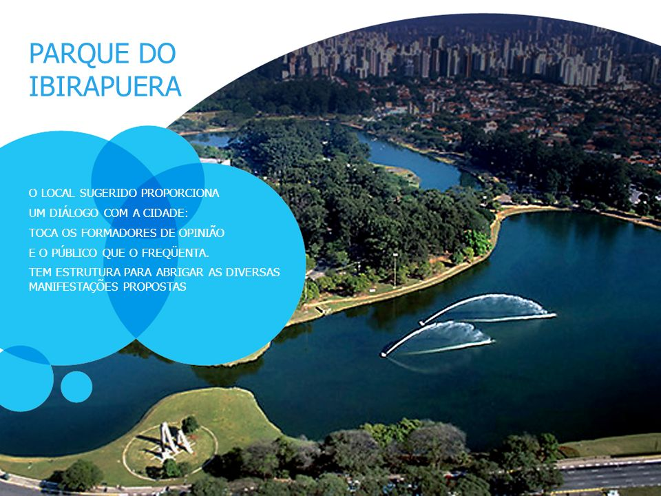 PARQUE DO IBIRAPUERA O LOCAL SUGERIDO PROPORCIONA
