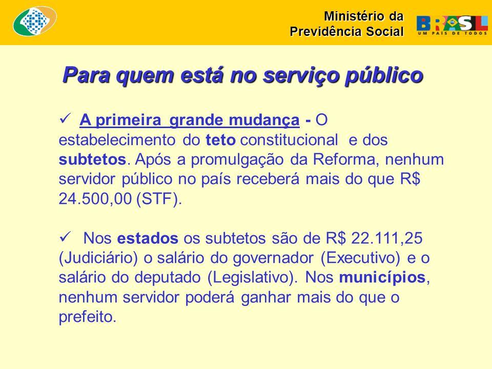 Para quem está no serviço público