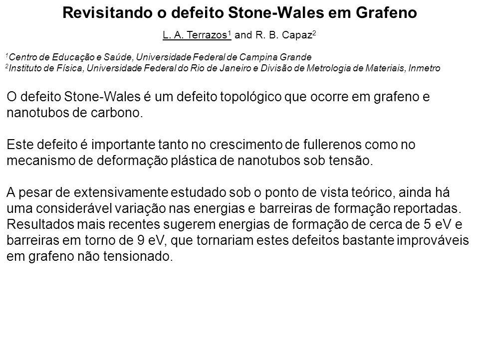 Revisitando o defeito Stone-Wales em Grafeno