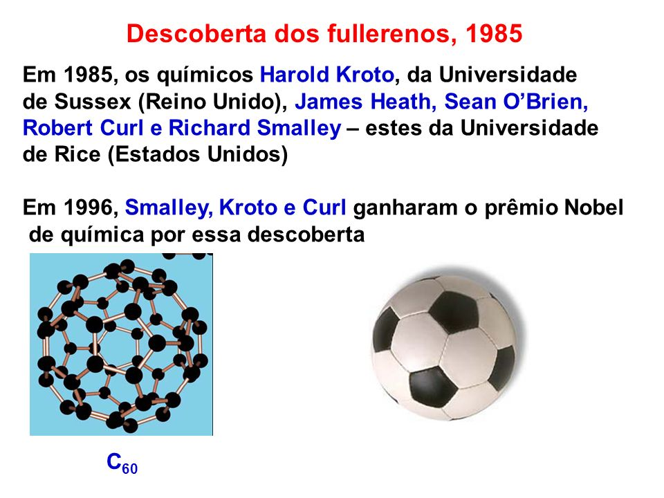 Descoberta dos fullerenos, 1985