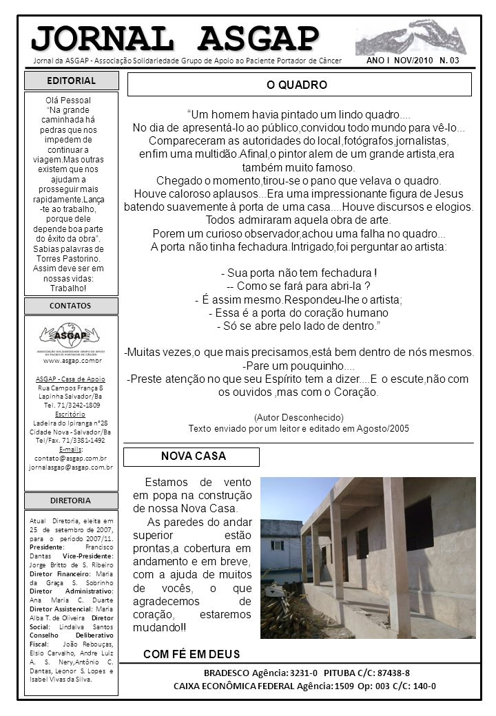 JORNAL ASGAP EDITORIAL O QUADRO