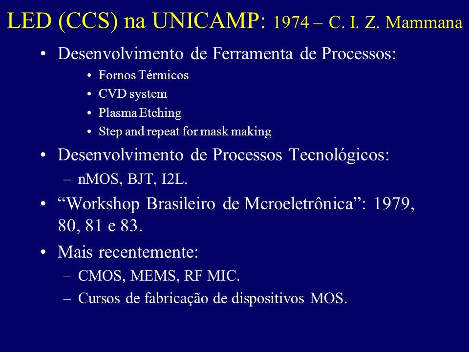 LED (CCS) na UNICAMP: 1974 – C. I. Z. Mammana