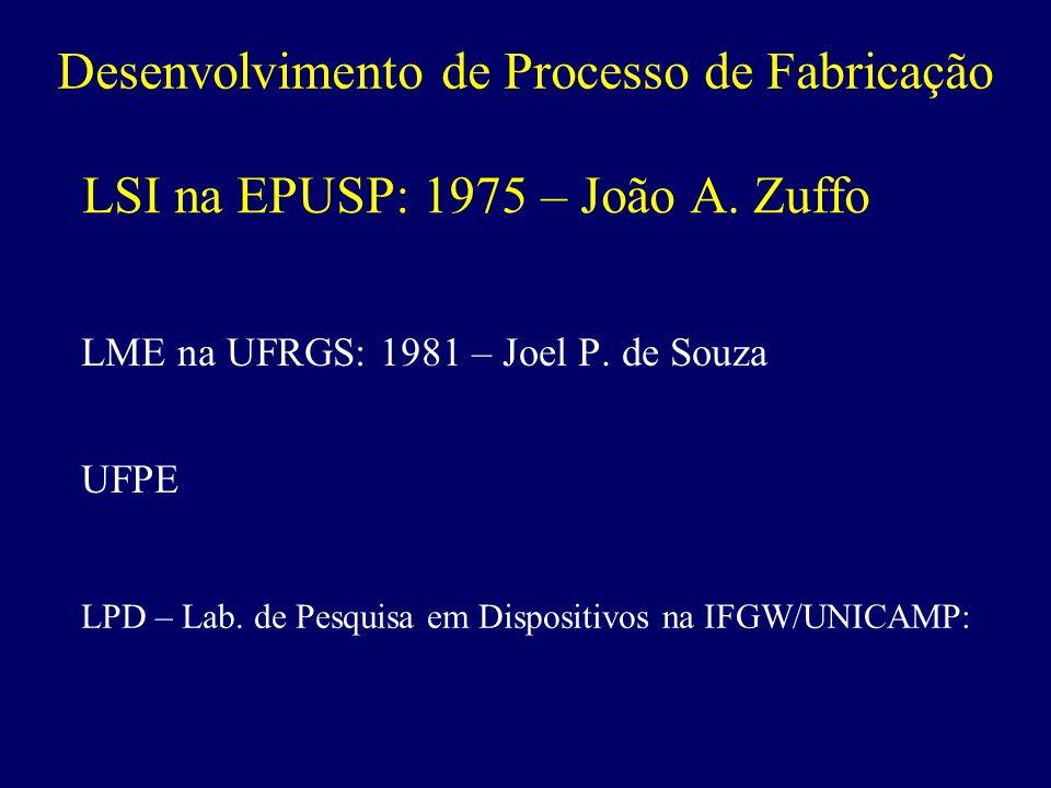LSI na EPUSP: 1975 – João A. Zuffo