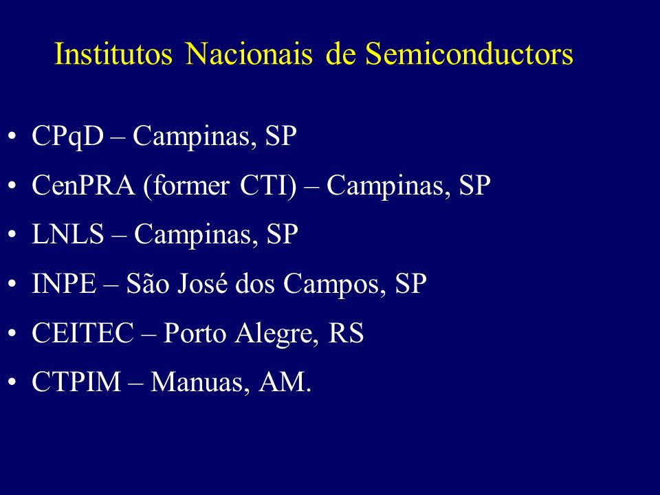 Institutos Nacionais de Semiconductors