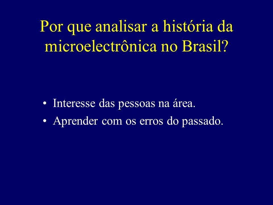 Por que analisar a história da microelectrônica no Brasil