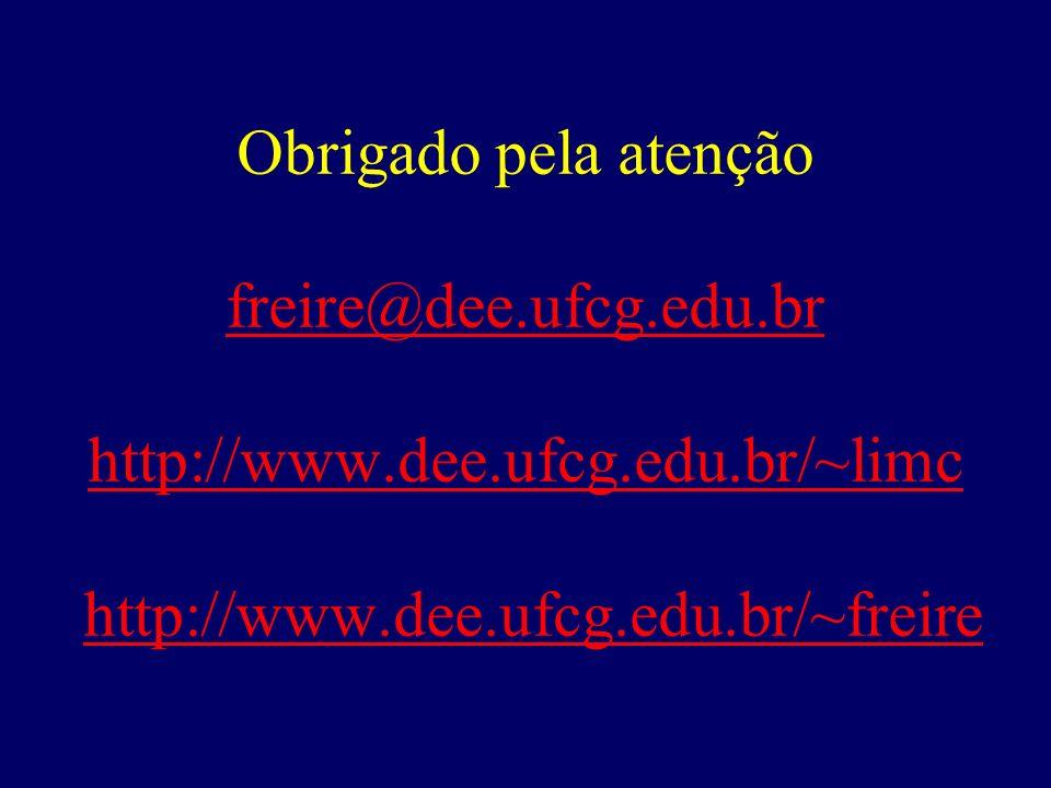 Obrigado pela atenção freire@dee. ufcg. edu. br http://www. dee. ufcg