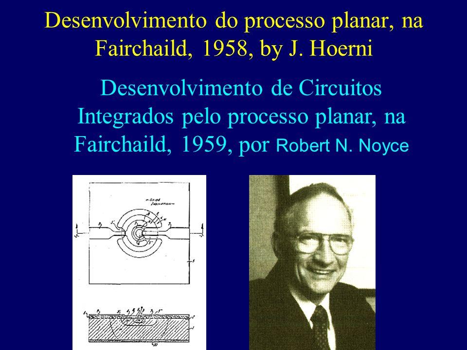 Desenvolvimento do processo planar, na Fairchaild, 1958, by J. Hoerni