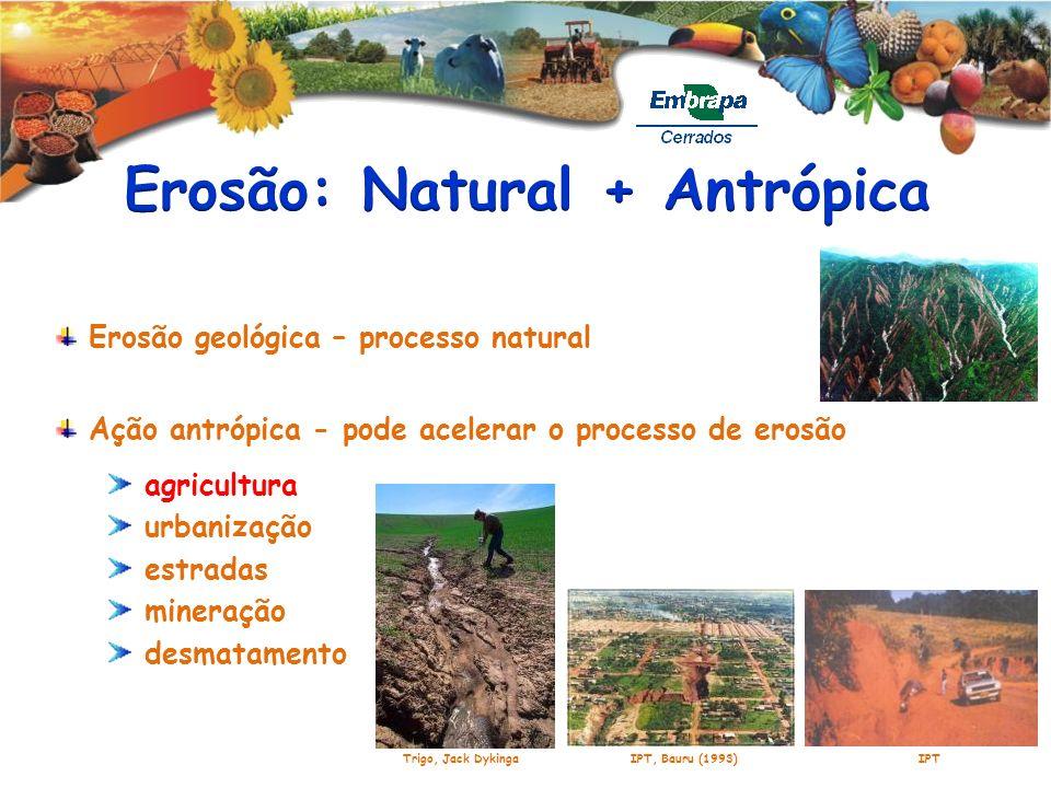 Erosão: Natural + Antrópica