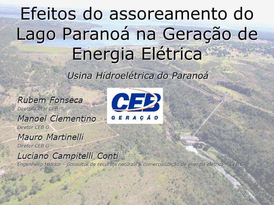 Efeitos do assoreamento do Lago Paranoá na Geração de Energia Elétrica