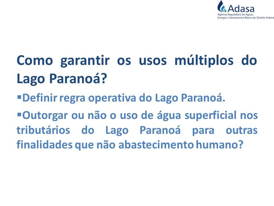 Como garantir os usos múltiplos do Lago Paranoá