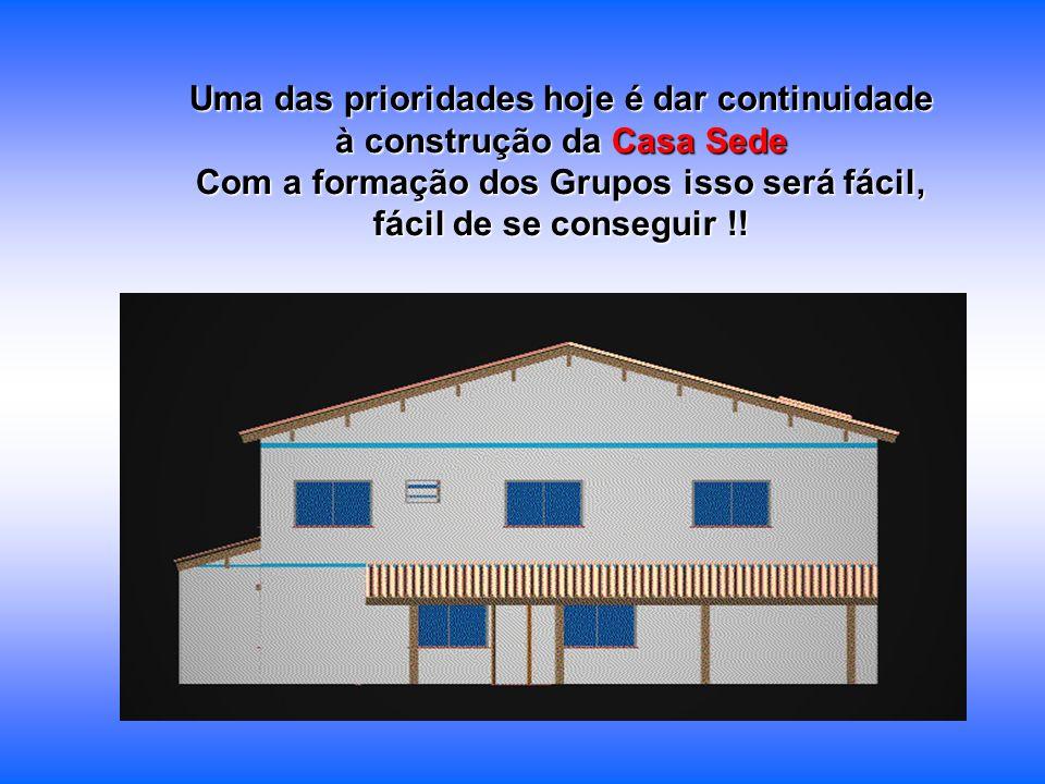 Uma das prioridades hoje é dar continuidade à construção da Casa Sede