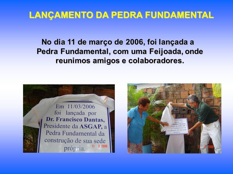 LANÇAMENTO DA PEDRA FUNDAMENTAL