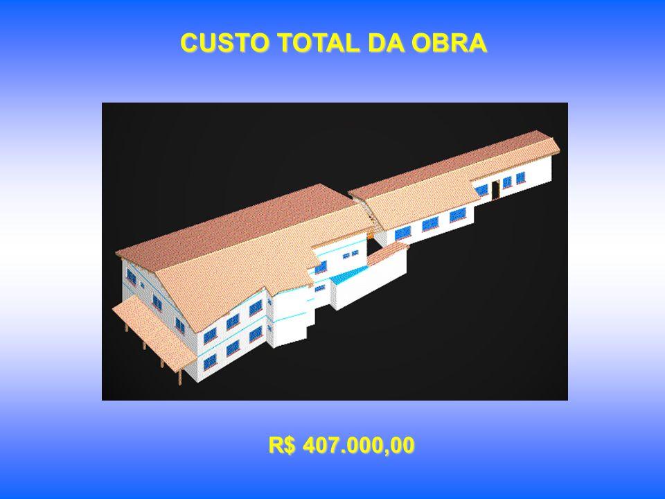 CUSTO TOTAL DA OBRA R$ 407.000,00