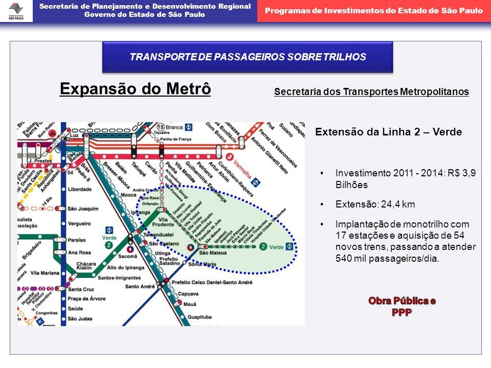 Expansão do Metrô Extensão da Linha 2 – Verde