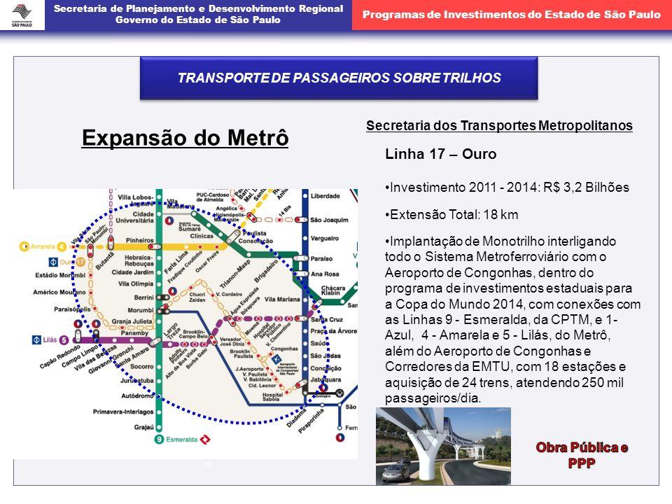 Expansão do Metrô Linha 17 – Ouro