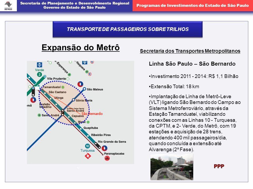 Expansão do Metrô Linha São Paulo – São Bernardo