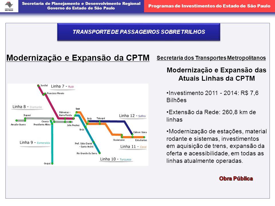 Modernização e Expansão da CPTM