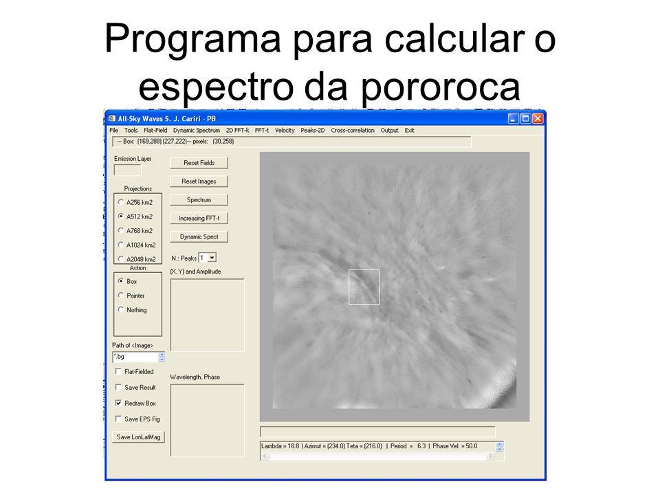 Programa para calcular o espectro da pororoca