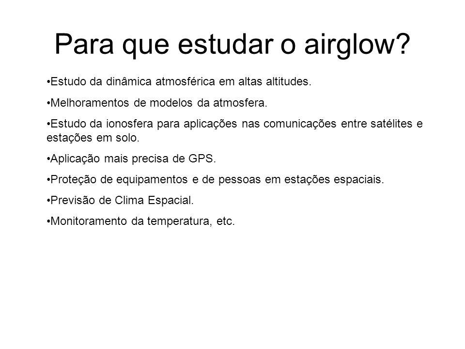Para que estudar o airglow
