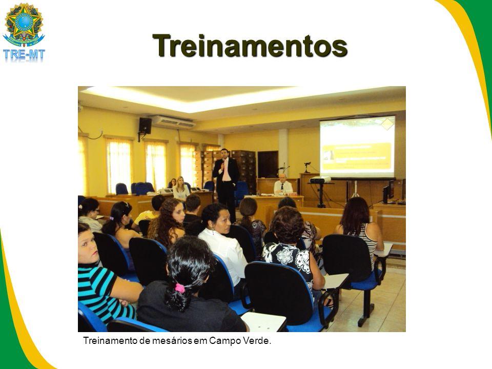 Treinamentos Treinamento de mesários em Campo Verde.