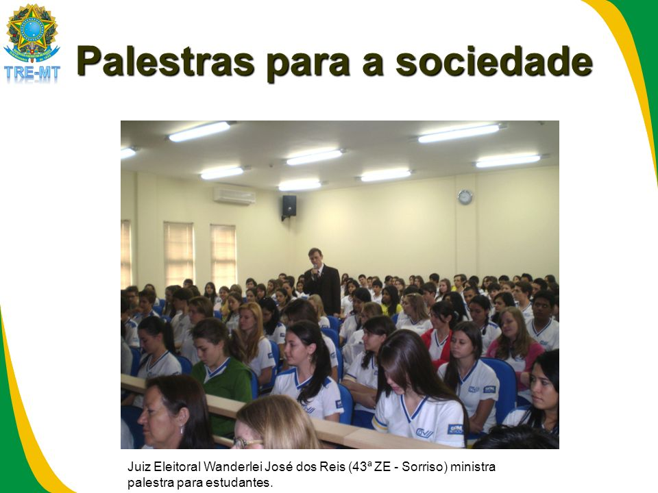 Palestras para a sociedade