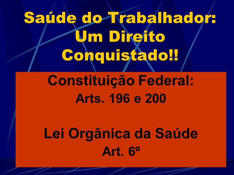 Saúde do Trabalhador: Um Direito Conquistado!!