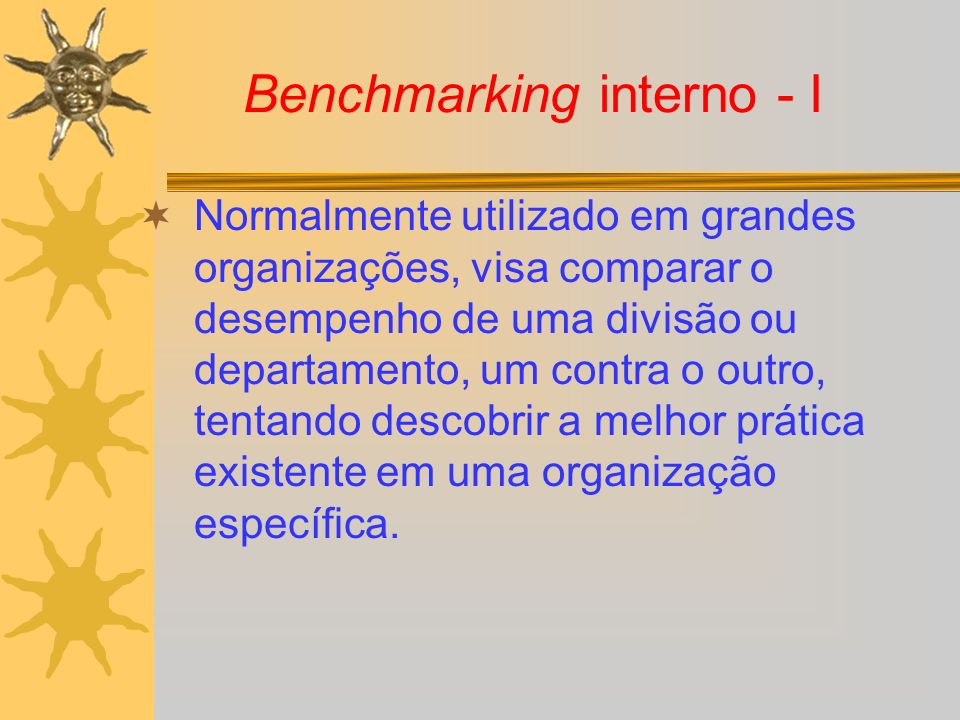 Benchmarking interno - I