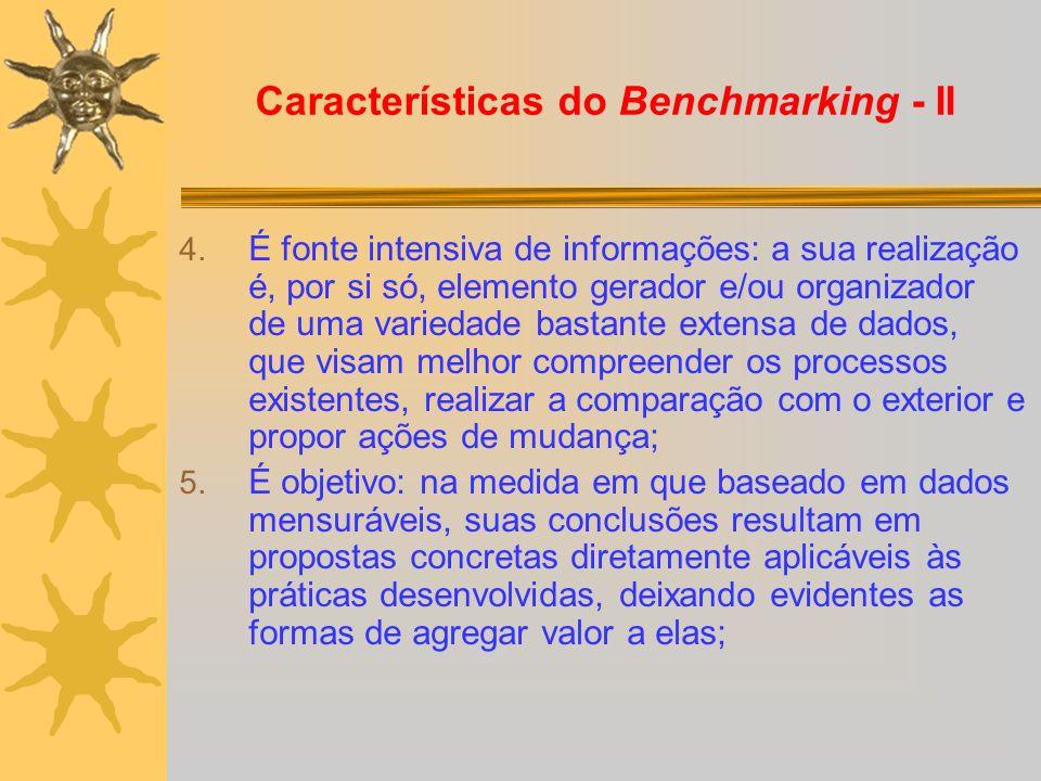 Características do Benchmarking - II
