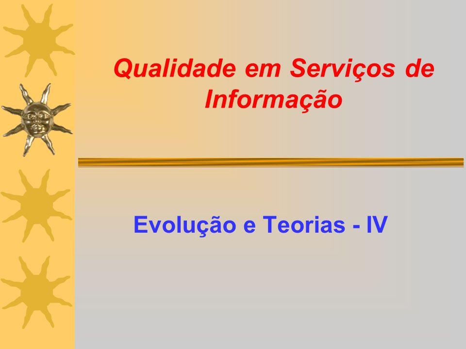 Qualidade em Serviços de Informação