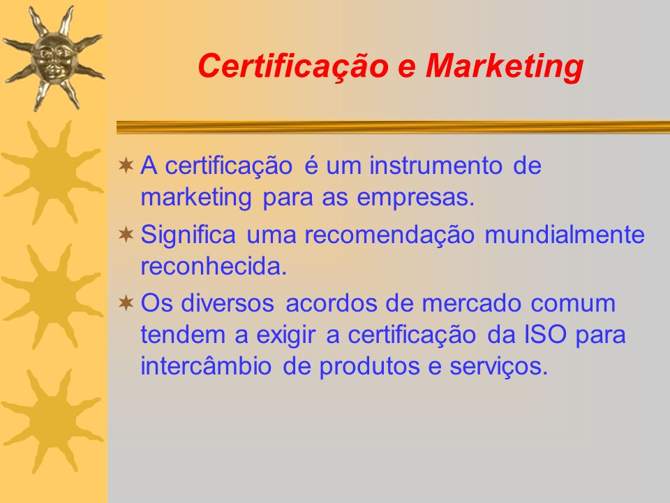 Certificação e Marketing