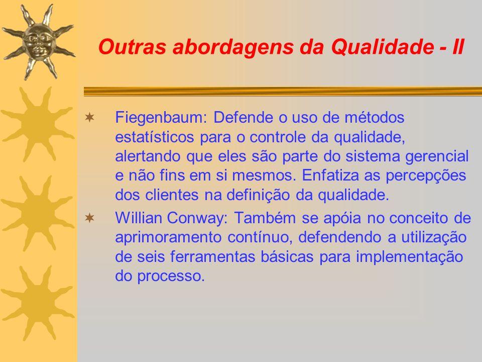 Outras abordagens da Qualidade - II