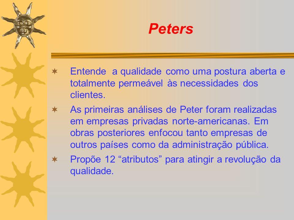 PetersEntende a qualidade como uma postura aberta e totalmente permeável às necessidades dos clientes.