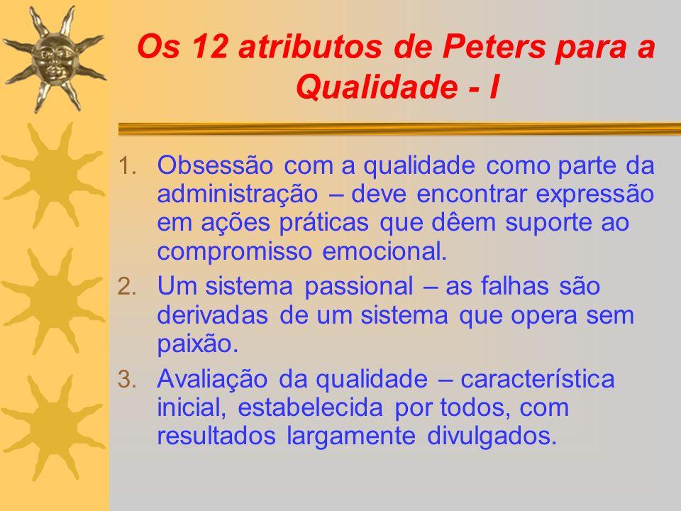 Os 12 atributos de Peters para a Qualidade - I