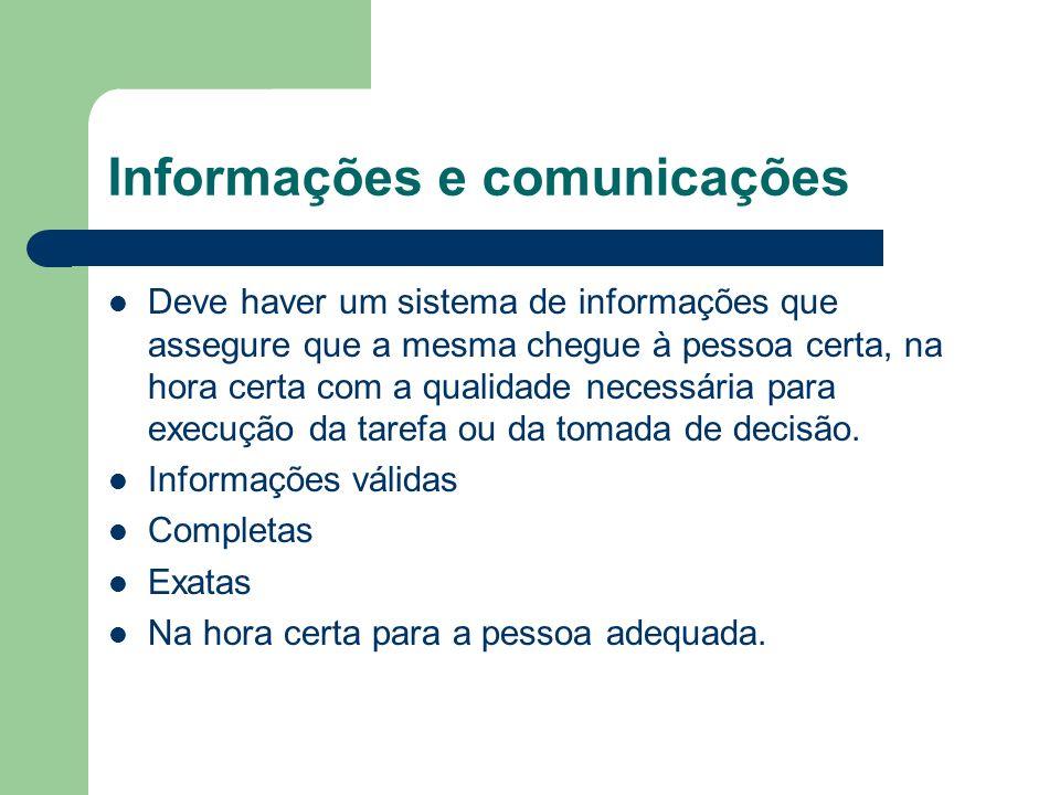Informações e comunicações