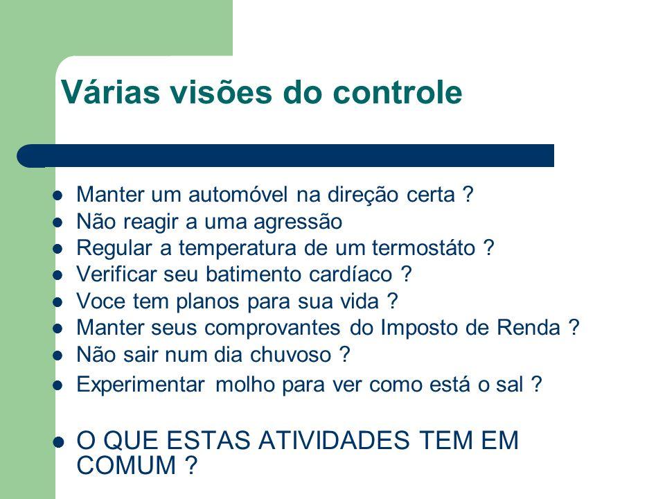 Várias visões do controle