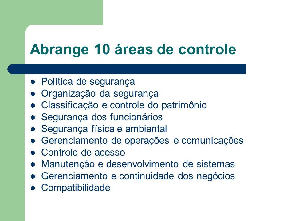 Abrange 10 áreas de controle