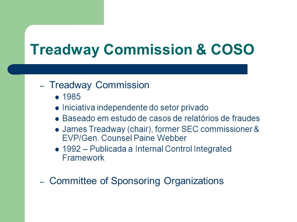 Treadway Commission & COSO