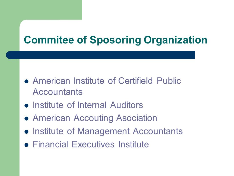 Commitee of Sposoring Organization