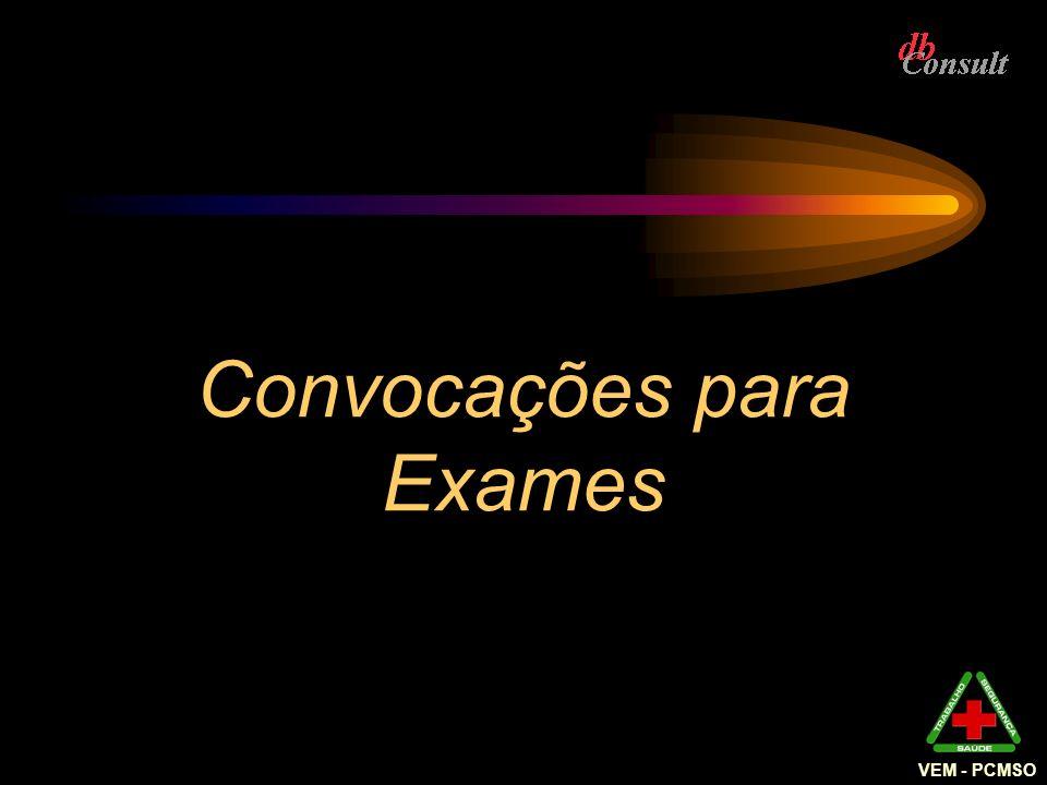 Convocações para Exames