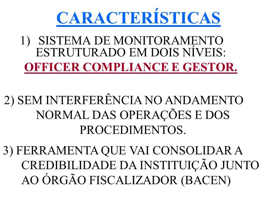 CARACTERÍSTICAS SISTEMA DE MONITORAMENTO ESTRUTURADO EM DOIS NÍVEIS: