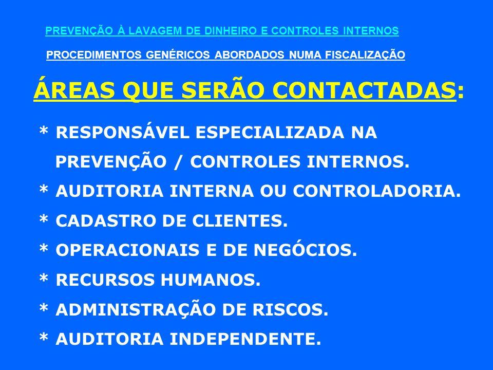 PREVENÇÃO À LAVAGEM DE DINHEIRO E CONTROLES INTERNOS