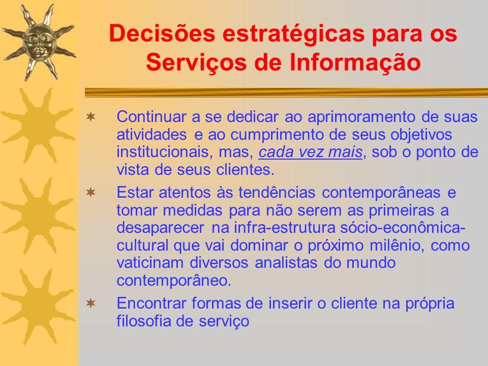 Decisões estratégicas para os Serviços de Informação