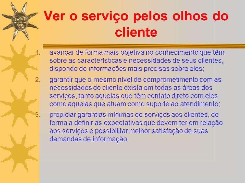 Ver o serviço pelos olhos do cliente